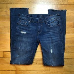 Vigoss The Jagger Straight Legged Distressed Jeans